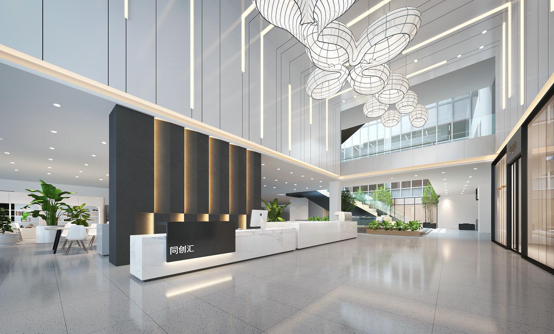 办公前台大堂设计